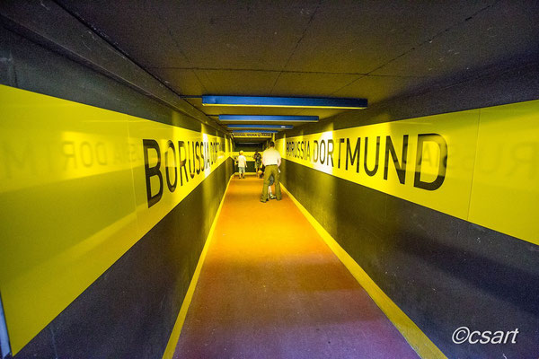 """...der Spielertunnel, lt. Kloppo """" der Geburtskanal"""" - das kommt echtes Gladiatoren- Feeling auf, Gänsehaut..."""