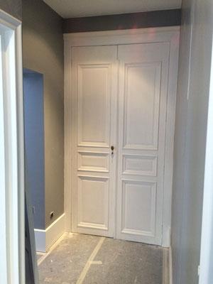 Chambranle portes intérieures. Ebénisterie Philippe