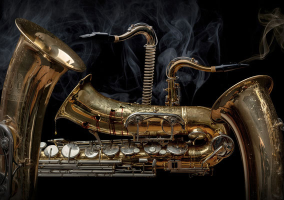 Sax and crime · Copyright by Olaf Bruhn
