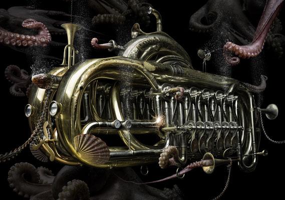 Steampunk trumpet · © Olaf Bruhn 2016