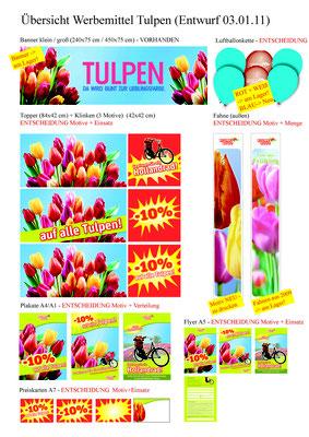 BLUME 2000 - Tulpen Aktion - Werbemittel Übersicht