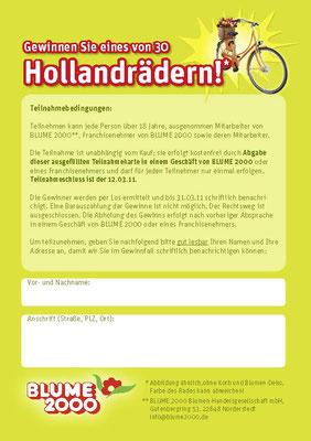 BLUME 2000 - Tulpen Aktion & Verlosung - A4 Flyer Rücktitel