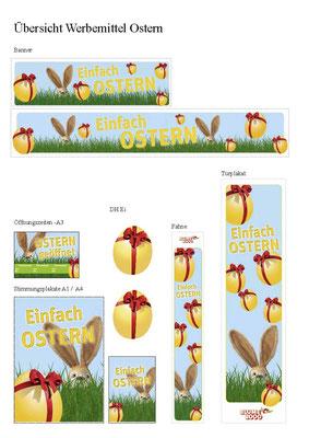 BLUME2000 - P.O.S.-Werbung Ostern - Werbemittel Übersicht