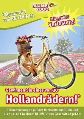 BLUME 2000 - Tulpen Aktion & Verlosung - A4 Flyer