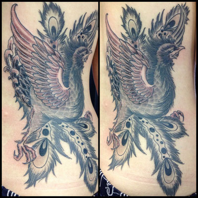 鳳凰 和彫り 洋彫り 刺青 タトゥー