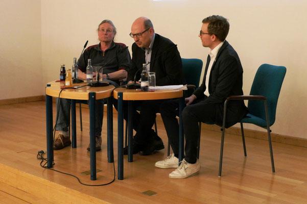 Karl Schweizer, Dr. Nikolaus Back und Johannes Kuber (v. l. n. r.)