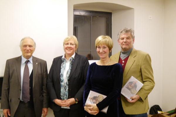 Prof. Dr. Thomas Zotz, Prof. Dr. Sabine Holtz, Dr. Andrea Riotte und Dr. Daniel Kuhn