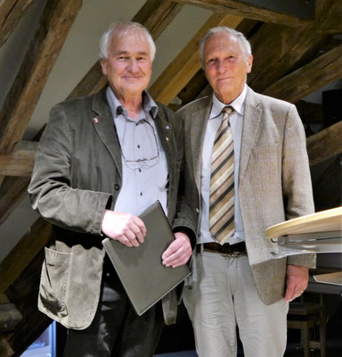 v.l.n.r.: Johannes Angele und Prof. Dr. Thomas Zotz