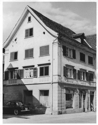 Fassade Wirthensohn Malerei ca 1959-1962