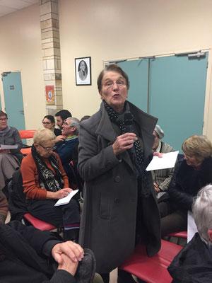 Françoise Fenech au micro