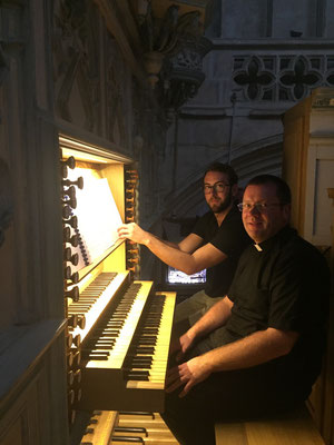 Pour le Requiem, Stéphane Cailliaux à l'orgue