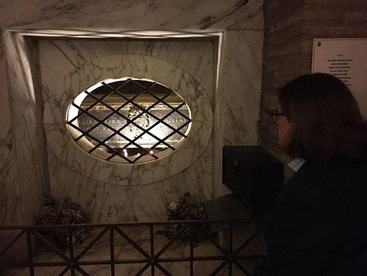 Vénération des reliques de sainte Agnès