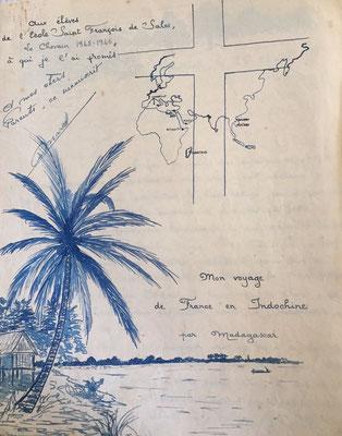 Les cahiers proviennent des souvenirs de voyage du père Marcel Denis qui l'emmène au Laos. Le voyage va durer six mois, c'est juste après la deuxième guerre mondiale