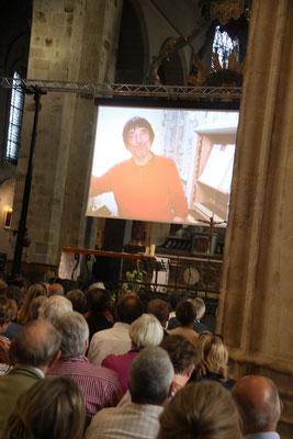 Diffusion d'un reportage sur la restauration de l'orgue ; ici, Jean Daldosso, le facteur d'orgue