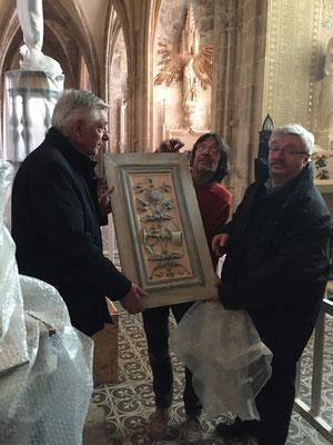 Thierry Semenoux avec Dominique Artois, adjoint au maire d'Alençon pour la culture