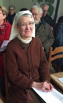 Soeur Christiane Jouve qui nous quitte malheureusement pour s'en retourner dans sa communauté de Pomeyrol
