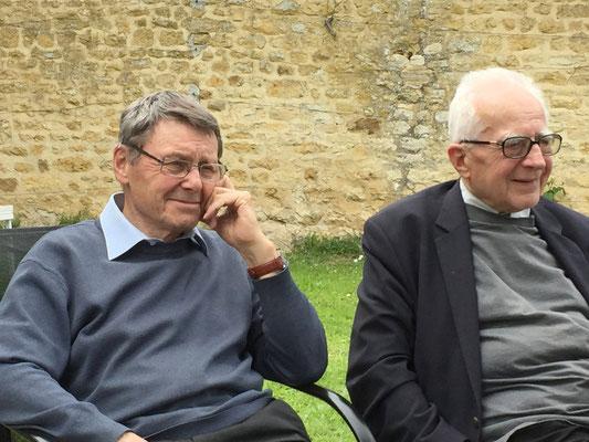Mgr Gilbert Louis et le P. Jean Gérard