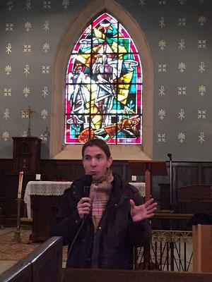 Premier témoignage de Thierry Lepecq, aumônier du CPO à Alençon dans l'église de Semallé