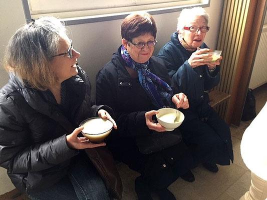 Le jeûne et le partage, ici la soupe