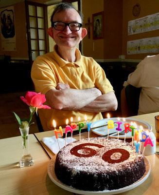 Jean-Claude le jour de ses 60 ans