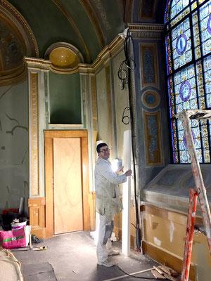 et surtout la chapelle du 1er étage achève sa complète restauration