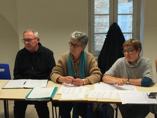 Equipe pilote : Marc et Josette Drouet, Delphine Laudier (à droite)