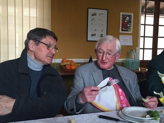 Mgr Gilbert Louis et P. André Cousin