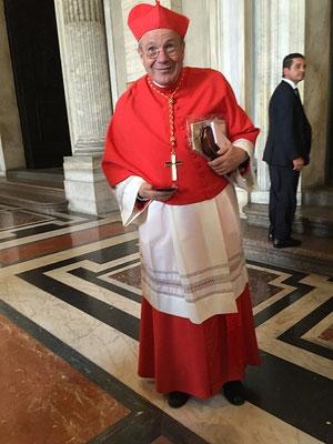 Le cardinal Schönborn, archevêque de Vienne, parle couramment le français (il a étudié à l'Institut Catholique de Paris). Sa soeur a une propriété près de Caen où il vient de temps en temps se reposer. Le Père Loïc l'a invité à venir à Alençon.