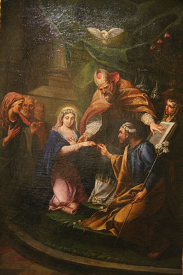 """... et la reproduction du tableau de Carle Van Loo : """"Le mariage de la Vierge"""""""