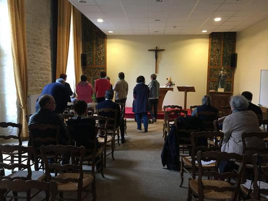 la prière à la Chapelle bien sûr n'a pas été oubliée