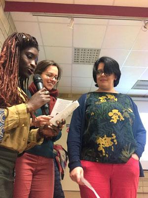 Trio de choc pour chanter : Anne-Lise, Clarisse et Carole