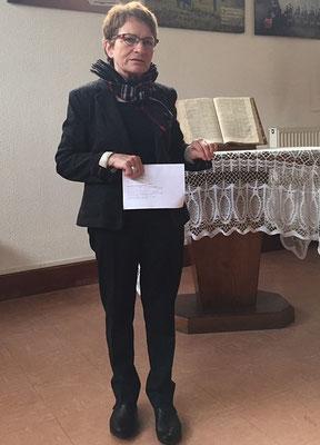 La nouvelle présidente de la paroisse protestante : Mme Elisabeth Gautier-