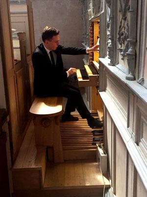 Thomas Ospital, organiste de 26 ans