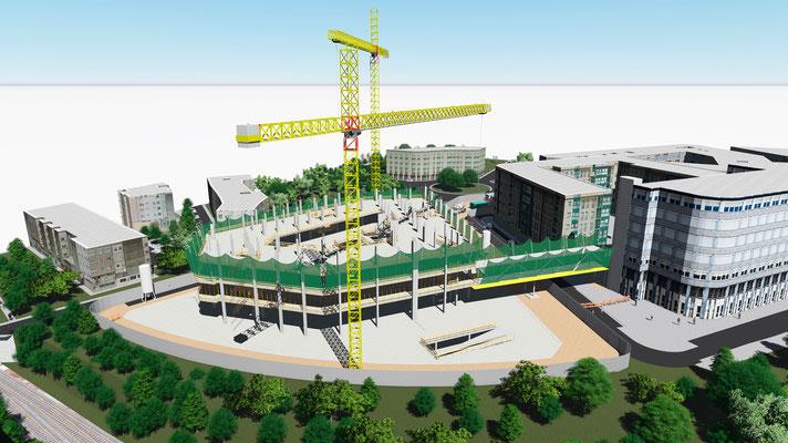 Render construcción 3D
