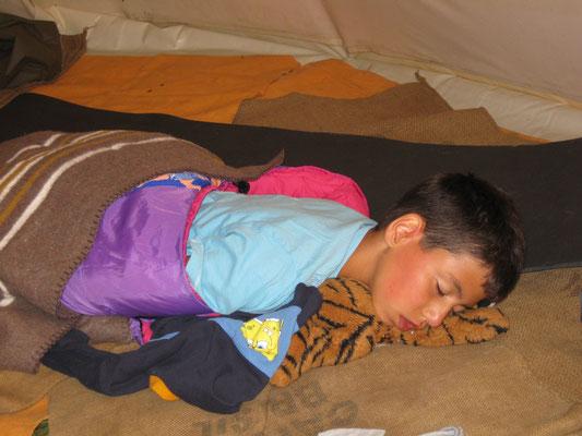 Schlafen im Tipi