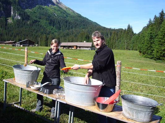 Das Küchenteam im Einsatz