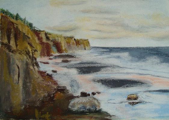 """""""Ahrenshoop - Steilküste"""" - Pastell, 30 x 40, 2007"""