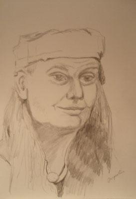 """""""Jacqueline"""" - Bleistiftzeichnung, 40 x 30, 2011"""