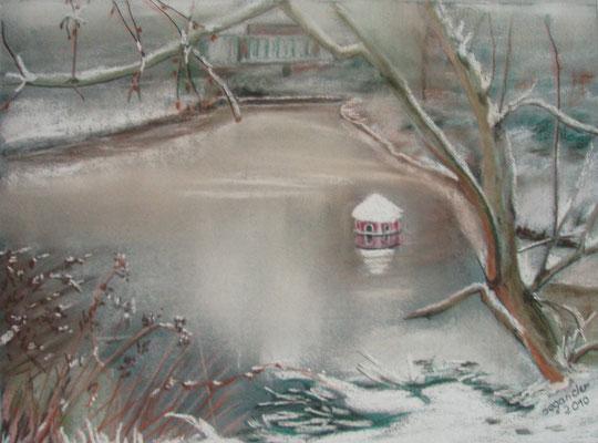 """Bremen - Im Nebel"" - Pastell, 30 x 40, 2010"