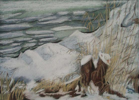 """""""Bremen - Am Werdersee"""" - Pastell, 30 x 40, 2010"""