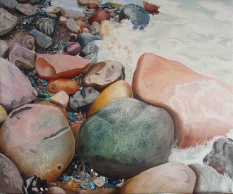 """""""Rügen - Steine I"""" - Öl auf Leinwand, 60 x 80, 2011"""
