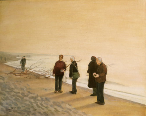 """Strandspaziergang"" - Öl auf Leinwand, 40 x 50, 2016"