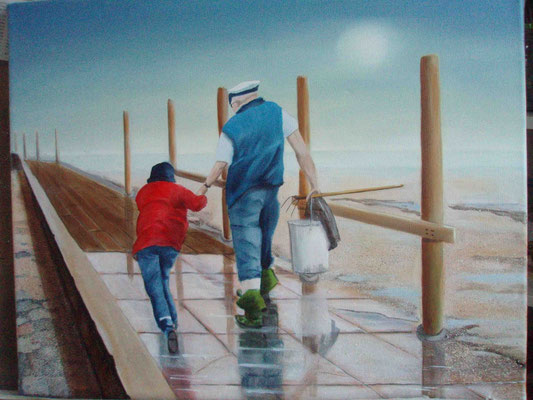 """Langeness - Kein Fang"" - Öl auf Leinwand, 40 x 50, 2011"