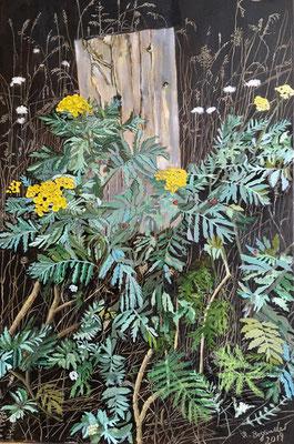 """""""Gemeiner Rainfarn"""" Öl auf Leinwand, 650 x 40, 2019"""
