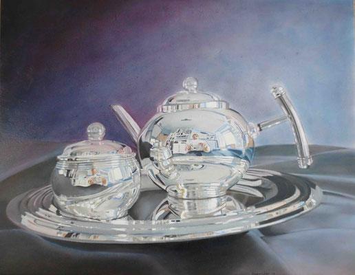 """""""Die Blaue Stunde"""" - Öl auf Malplatte, 40 x 50, 2013"""
