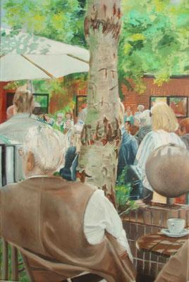 """Worpswede - Sommerfest 2010"" - Öl auf Leinwand, 60 x 40, 2010"