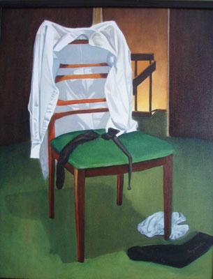 """""""Am Abend"""" - Öl auf Malplatte, 50 x 40, 2012"""
