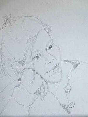 """""""Janina"""" - Bleistiftzeichnung, 40 x 30, 2011"""