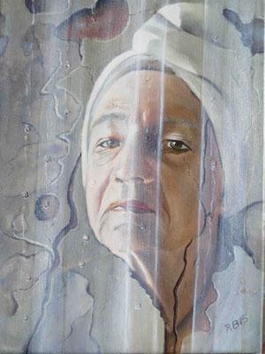 """Im Bad"" - Öl auf Leinwand, 40 x 30, 2015"