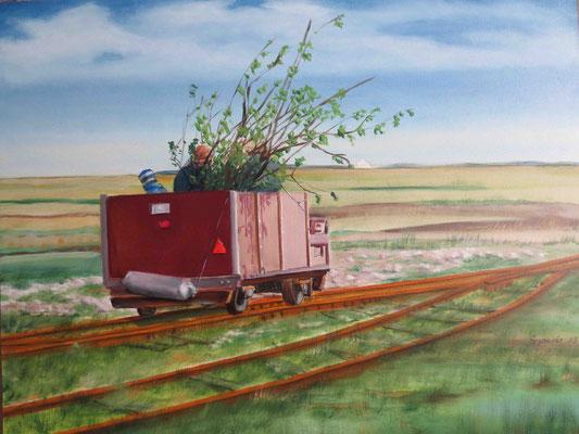 """""""Langeness - Lore"""" - Öl auf Malplatte, 40 x 50, 2013"""